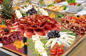 picture of fruit platter  - Food on the party prepared to be eaten - JPG