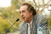 Eric Idle at the ceremony posthumously honoring George Harrison with a star on the Hollywood Walk of Fame. Vine Boulevard, Hollywood, CA. 04-14-09