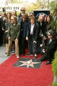 Olivia Harrison with family and friends at the ceremony posthumously honoring George Harrison with a star on the Hollywood Walk of Fame. Vine Boulevard, Hollywood, CA. 04-14-09