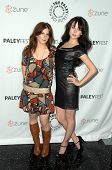 Magda Apanowicz and Alessandra Torressani  at 'Battlestar Galactica-Caprica' presented by the Twenty