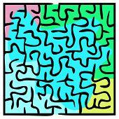 Black Square Maze (16X16)