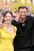 Lynn Collins and Hugh Jackman  at the United States Premiere of 'X-Men Origins Wolverine'. Harkins T