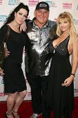 Joanie Laurer with Denis Hof and Vicky Vette  at the Los Angeles Premiere of 'Naked Ambition an R-Ra