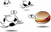 Cows Running Away From Lonely Hamburger