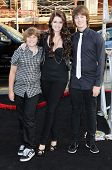 Katherine Schwarzenegger with Patrick Schwarzenegger and Christopher Schwarzenegger at the Los Angel