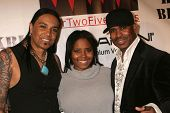 Micki Free with Shar Jackson and KC Caldwell  at the Opening of 'The Abstract Art of Kris Black' benefitting Survivors of Sexual Abuse. Stanley's Restaurant and Bar, Sherman Oaks, CA. 05-21-09