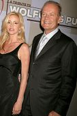 Camille Grammer and Kelsey Grammer  at the Heart Foundation gala honoring Wolfgang Puck. The Beverly