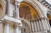 Details of facade, San Marco Basilica in Venice