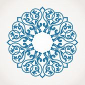 picture of indian blue  - Round Ornament Pattern - JPG