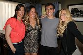 Caitlin Keats, Sarah Butler, Matthew Ziff, Jennifer Blanc on the set of