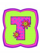 Alphabet Daisy Daze T