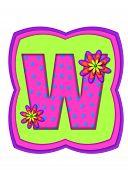 Alphabet Daisy Daze W