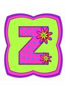 Alphabet Daisy Daze Z