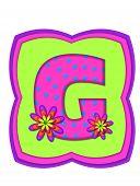 Alphabet Daisy Daze G