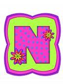 Alphabet Daisy Daze N