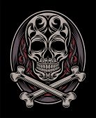 stock photo of skull crossbones  - fully editable vector illustration  - JPG