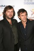 Gregor Jordan and Oliver Ackland at the Australian Academy Award Celebration. Chateau Marmont, West