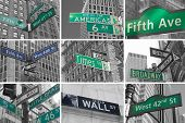 Avenues And Streets Signs Od Nyc