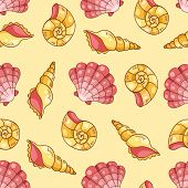 Cockleshells Seamless Pattern Yellow