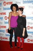 Rose Rollins and Mia Kirshner  at the farewell party for final season of 'The L Word'. Cafe La Bohem