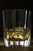 pic of malt  - Single malt scottish whiskey on the rocks in a glass - JPG