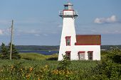 New London Range Rear Light or lighthouse located in French River, Prince Edward Island, Canada.