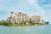 MIAMI,USA - MAY 27,2014 : Residences at Fisher Island, an exclusive community in an artificial islan
