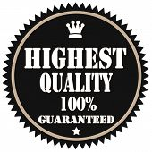 Highest Quality-label