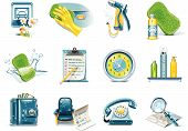 image of car wash  - Set of car wash service related icons - JPG
