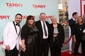 LOS ANGELES - JUN 30:  Ben Falcone, Melissa McCarthy, Michael McCarthy, Sandra McCarthy at the