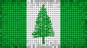 Flag Of Norfolk Island Lighting On Led Display