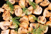 Quartered Roasted Champignons With Dill
