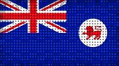 Flag Of Australian State Of Tasmania Lighting On Led Display
