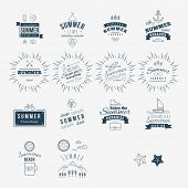 Retro hand drawn elements for Summer calligraphic designs |  hipster, nomcore style | Vintage orname