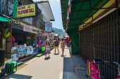 Krabi,thailand - April 14, 2014 : The Tourist Visit Small Touristic Village At Phi Phi Island