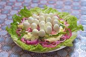Dish Nest Of Snakes From Russian Cuisine