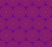 Seamless Pattern Made Of Round Decorative Elements.