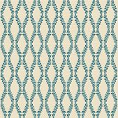 Seamless Pattern With Blue Branches On Beige Background