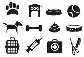 Dog Related Vector Icons