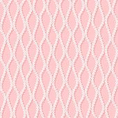 Seamless Pattern With White Net On Pink Background.