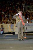 Modena, Itália - 9 de julho: Bulgary banda militar durante concerto Internacional de bandas militares em julho