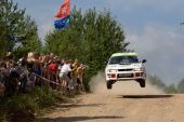 Rostov, Russia - July 27: Ilya Voronov Drives A Subaru Impreza  Car During Rostov Velikiy Russian Ra