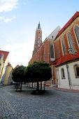 Gothic style church Landshut Altstadt, Germany