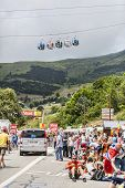 Cable Cars And Audience At Alpe D'huez
