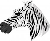 Mascot Illustration Featuring a Zebra