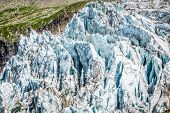 Argentiere Glacier In Chamonix Alps, Mont Blanc Massif, France.