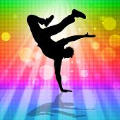 stock photo of break-dance  - Break Dancer Representing Street Dancing And Music - JPG