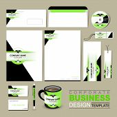 Business Corporate Identity Template With Green And Black
