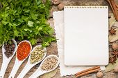 pic of recipe card  - Menu background - JPG