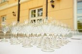 Wine Glasses On Table Uotdoor